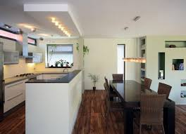 modern house kitchen contemporary house design in rectangular three blocks structure