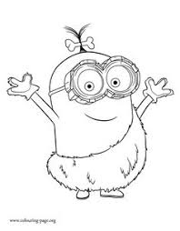 despicable coloring pages minions minions