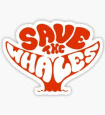 save the save the whales stickers redbubble