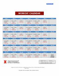 100 printable workout calendar template blank calendar