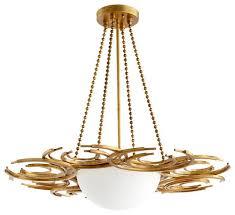 Gold Leaf Chandelier Cyan Design Vivian Three Light Chandelier Gold Leaf U2013 Clayton Gray