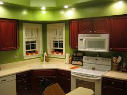 Kitchen Wall Paint Color Ideas White Granite Countertop Brown Wood Paint Cabinets Design Gray