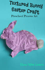 textured bunny easter craft process art easter crafts and