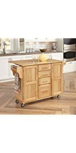 amazon com home styles 5086 95 stainless steel top kitchen cart