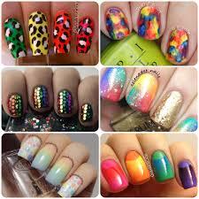 nail art rainbow art nails art