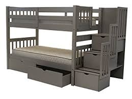 Steps For Bunk Bed Bedz King Stairway Bunk Beds With 3