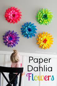 how to make rainbow paper dahlia flowers