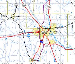map of hattiesburg ms hattiesburg mississippi ms 39402 profile population maps