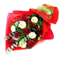 Beautiful Bouquet Of Flowers Bouquet Carry Gift