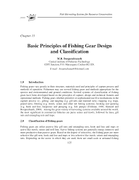 basic principles of fishing gear design and classification pdf
