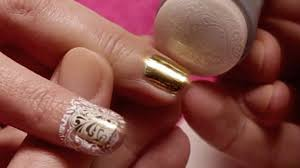 wedding nails with stamping and nail foil youtube
