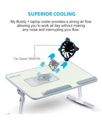 Cooling Laptop Desk by My Buddy Laptop Cooling Desk Buy My Buddy Laptop Cooling
