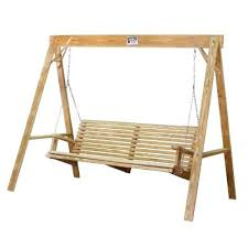 handcrafted wooden swing with stand free plans for porch swing