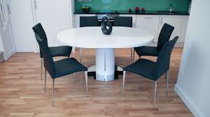 Black Extendable Dining Table Round White Dining Table And Chairs Uk Delivery