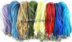 organza ribbon mixed organza ribbon necklace cords multicolor gauze necklace