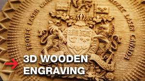 3d wooden engraving laser engrave 3d coat of arms