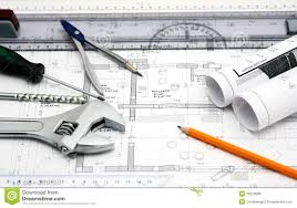 house blueprint and tools royalty free stock images image 18270099