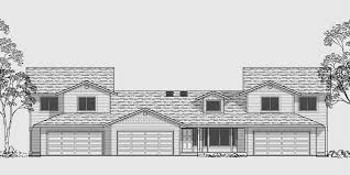 multi family house plans triplex homeca