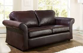 Sofa Sleeper Leather Sofa Cool Leather Bed Black Interest Beds For Brown Design 3