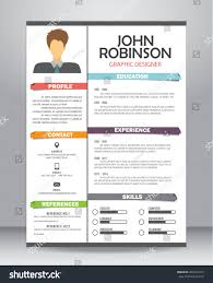 Resume Template Layout Resume Cv Template Layout Template Stock Vector 462476410