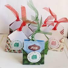 christmas tea party favors christmas tea bag holders two sided poinsettia trees tea