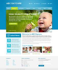 informational website templates daycare website templates childcare website templates day care