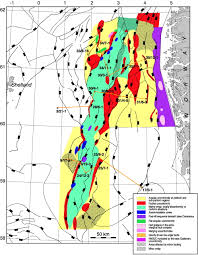 North Sea Map Unconformities Related To The Jurassic U2013cretaceous Synrift U2013post