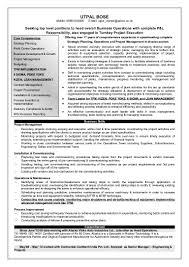 Maintenance Engineer Resume Utpal Bose Resume