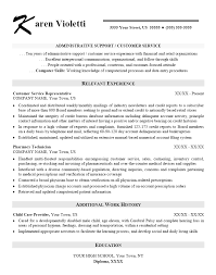 Sample Entry Level Customer Service Resume by Sample Administrative Support Customer Service Resume Examples