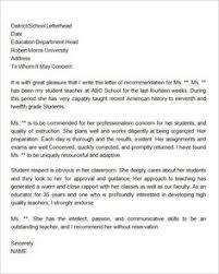 personal letter of recommendation reference letter1 writing a