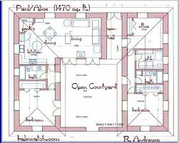 u shaped house plans single level house plans