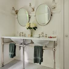 polished nickel mirror bathroom farmhouse with medicine cabinet