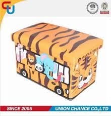 animal print kids toy storage folding storage ottoman buy