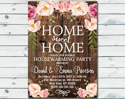Housewarming Invitation Cards Designs Home Invitation Etsy