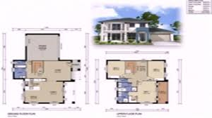 Double Storey House Floor Plans Floor Plans With Dimensions Two Storey Youtube