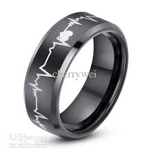 mens black wedding rings new arrival 8mm black tungsten carbide ring with laser engraved