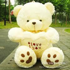 big teddy for s day hot 70cm big soft plush white teddy