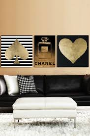 best 20 chanel wall art ideas on pinterest chanel print chanel grace oliver gal be golden canvas art set of 3 by oliver gal gallery on fine art canvas print by the oliver gal artist co