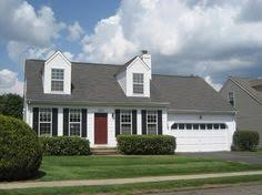 cape cod style with red door and black shutters u003d dream home