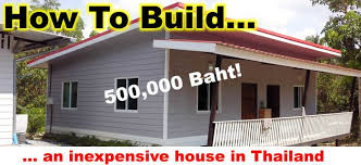 price of building a home cost of building a house in thailand living in thailand