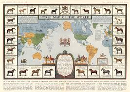 England On Map Horse Map Of The World The Countries Of Origin Of Some Thirty