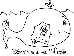 story of jonah and the whale coloring page netart