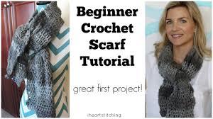 simple pattern crochet scarf beginner crochet scarf tutorial great first project youtube