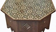 Moroccan Chair Syrian Coffee Table Inlaid With Mother Of Pearl Moroccan Coffee