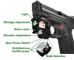 tactical light and laser amazon com lasertac rechargeable subcompact green laser sight