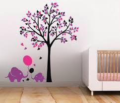 Vinyl Tree Wall Decals For Nursery by Aliexpress Com Buy L46 Elephant Balloon Tree Wall Sticker Vinyl