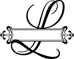 monogram letters split fancy letter vinyl monogram decal