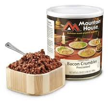 mountain house freeze dried bacon crumbles 647139 survival food