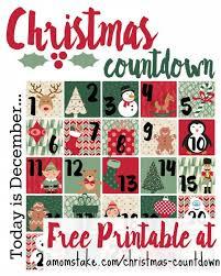 christmas countdown calendar christmas countdown printable a s take