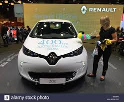 renault zoe electric paris france 29th september 2016 world premier of latest stock